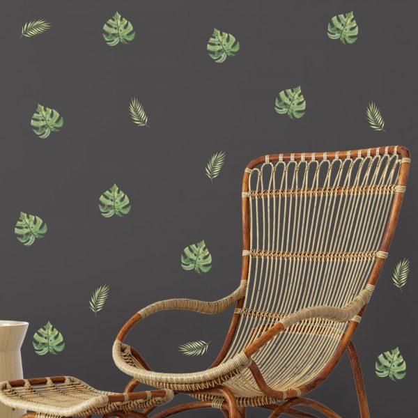 adesivo-de-parede-folhas-aquarela   Wall Done