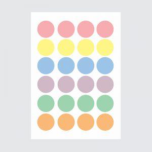 Adesivo de Parede Bolas Candy Colors Cartela | Wall Done
