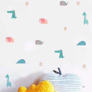 adesivo-de-parede-festa-dos-bichos-ambientado | Wall Done