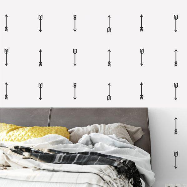 Adesivo de Parede Flechas Ambientado | Wall Done