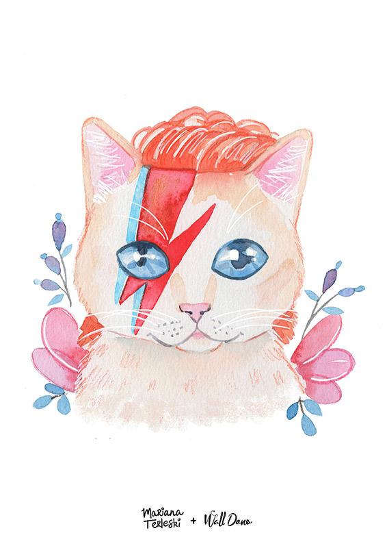Pôster Aquarela David Bowie | Wall Done