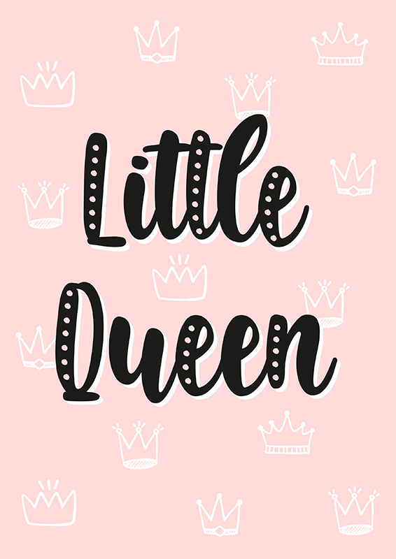 Pôster Little Queen   Wall Done