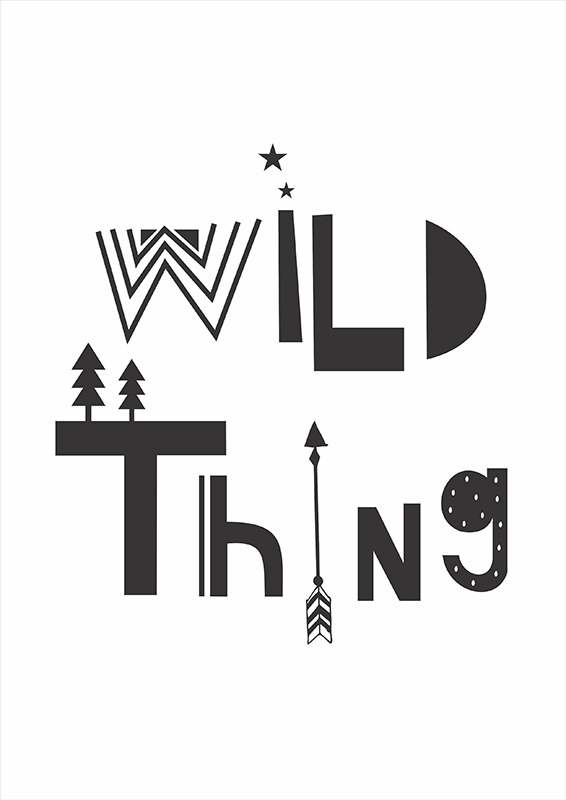 Pôster Wild Thing | Wall Done