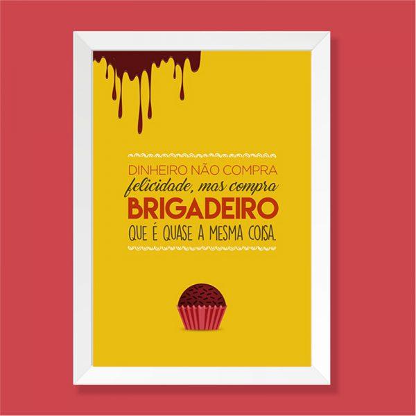 Quadro Brigadeiro Moldura Branca | Wall Done