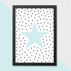 Quadro Estrela Moldura Preta | Wall Done