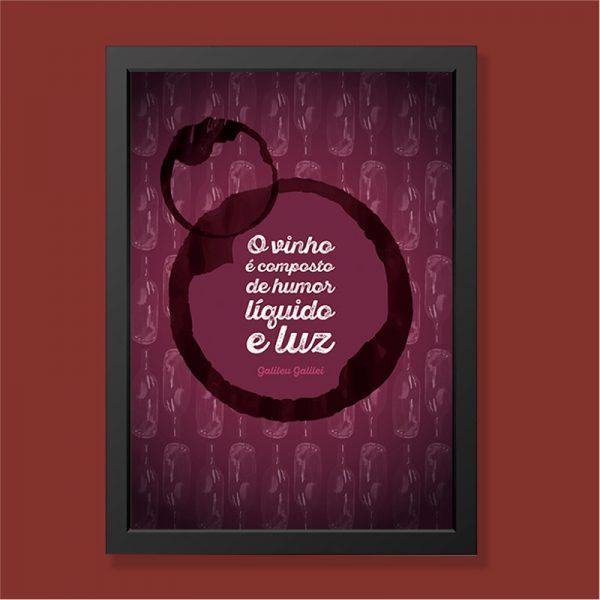 Quadro Vinho Moldura Preta | Wall Done