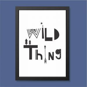 Quadro Wild Thing Moldura Preta | Wall Done