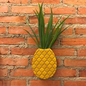Vaso de Parede Abacaxi Ambientado | Wall Done