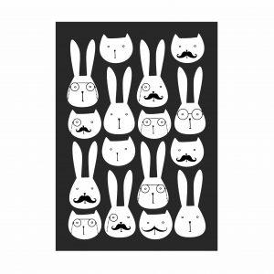 adesivo-de-parede-coelhos | Wall Done