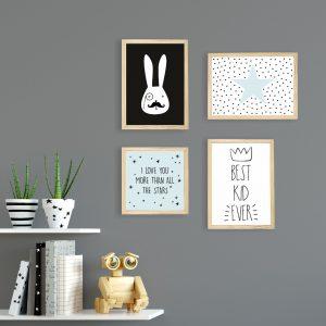 kit-quadros-quarto-menino | Wall Done