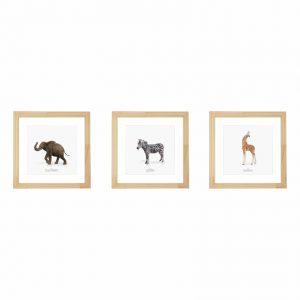kit-quadros-animais-safari-walldone