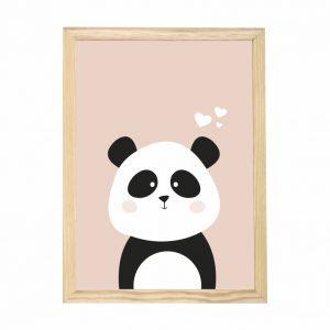 quadro-panda-moldura-pinus-walldone