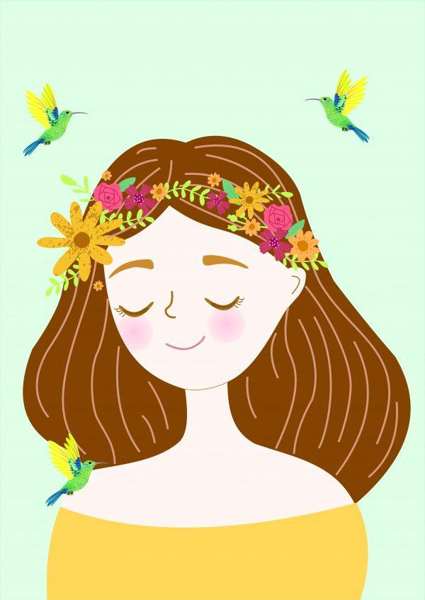 poster-menina-flores-walldone