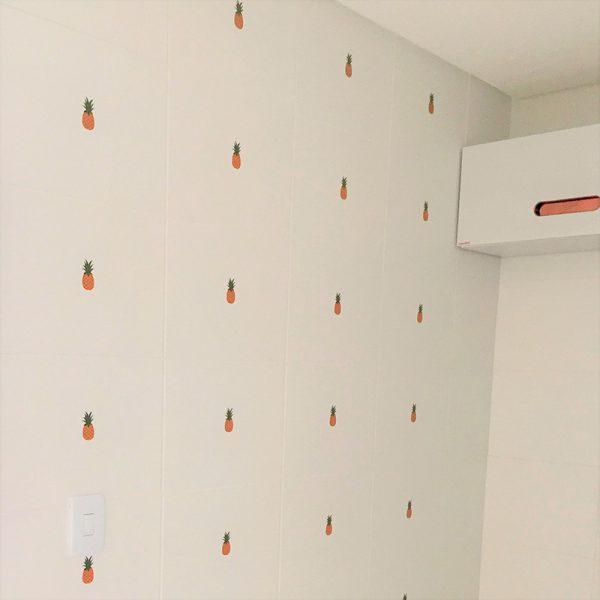 Adesivo de Parede Abacaxi Ambientado | Wall Done