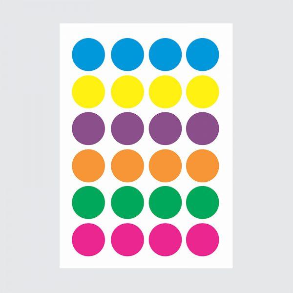 Adesivo de Parede Bolas Cores Vibrantes Cartela | Wall Done