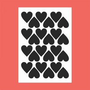 Adesivo de Parede Corações Cartela | Wall Done