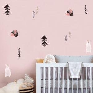 adesivo-de-parede-floresta-encantada-ambientado | Wall Done