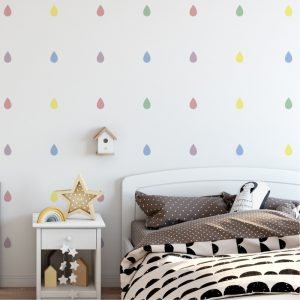 Adesivo de Parde Gotas Candy Colors | Wall Done