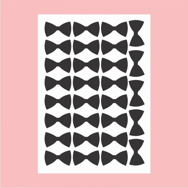 Adesivo de Parede Laços Preto Cartela | Wall Done
