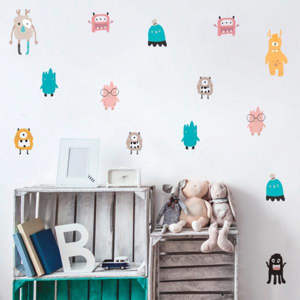 adesivo-de-parede-mundo-monstros-ambientado | Wall Done
