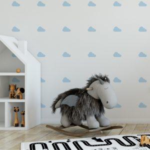 Adesivo de Parede Nuvens Ambientado | Wall Done