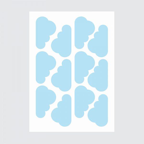 Adesivo de Parede Nuvens Cartela | Wall Done