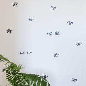 Adesivo de Parede Olhos Ambientado 2 | Wall Done