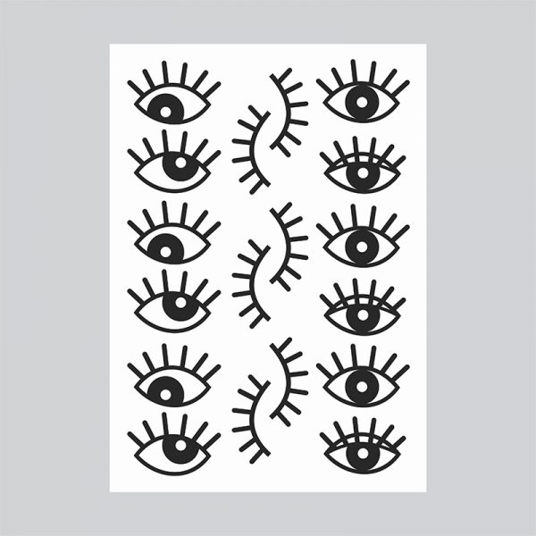 Adesivo de Parede Olhos Cartela | Wall Done