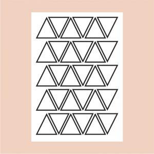 Adesivo de Parede Triângulos Contorno Cartela | Wall Done