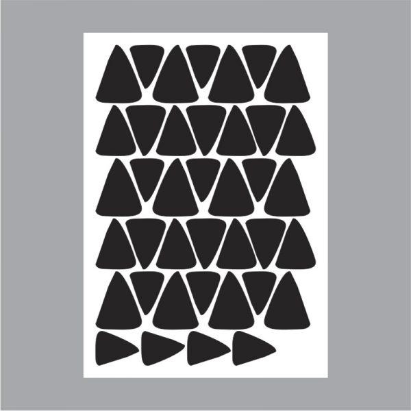 Adesivo de Parede Triângulos Irregulares Cartela | Wall Done