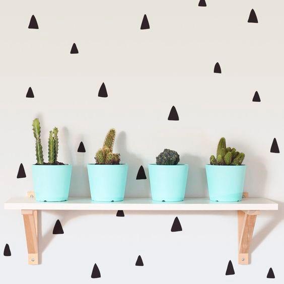 Adesivo de Parede Triângulos Irregulares | Wall Done