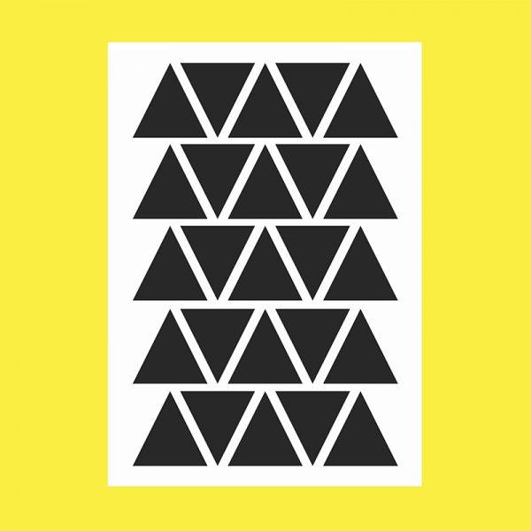 Adesivo de Parede Triângulos Preto Cartela | Wall Done