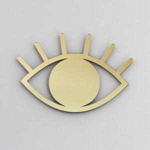 Espelho de Parede Olho Dourado | Wall Done