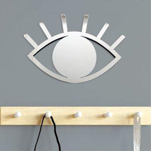 Espelho de Parede Olho Prata Ambientado 2 | Wall Done