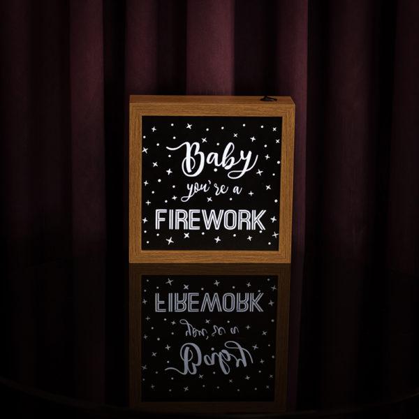 Lightbox Firework 2   Wall Done