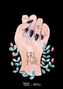 Pôster Aquarela Girl Power | Wall Done
