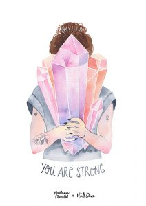 Pôster Aquarela You Are Strong | Wall Done