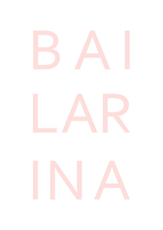 Pôster Bailarina | Wall Done