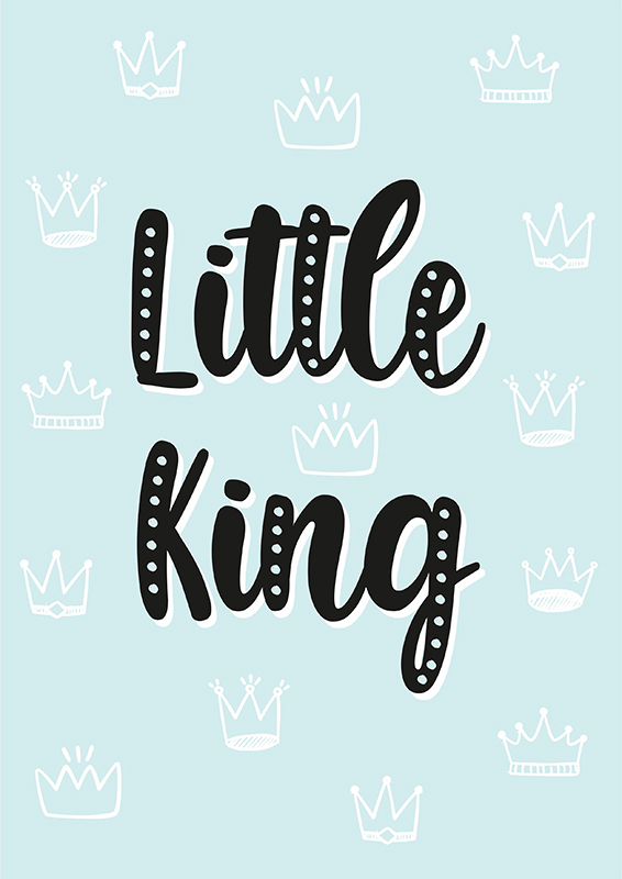 Pôster Little King | Wall Done