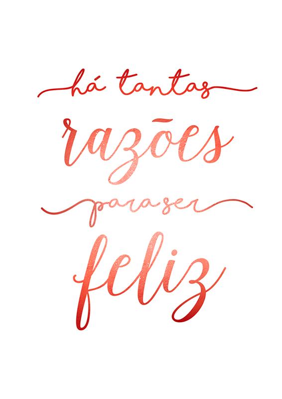 Pôster Razões Para Ser Feliz | Wall Done