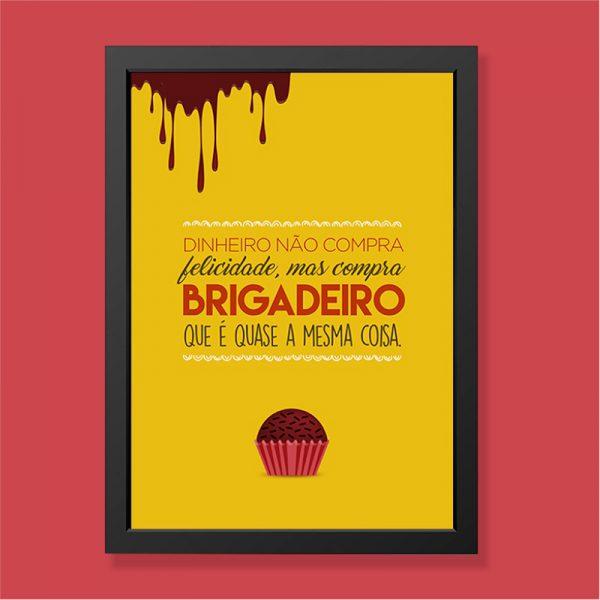 Quadro Brigadeiro Moldura Preta | Wall Done