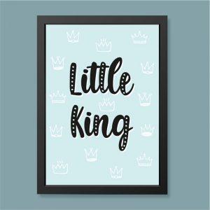 Quadro Little King Moldura Preta | Wall Done