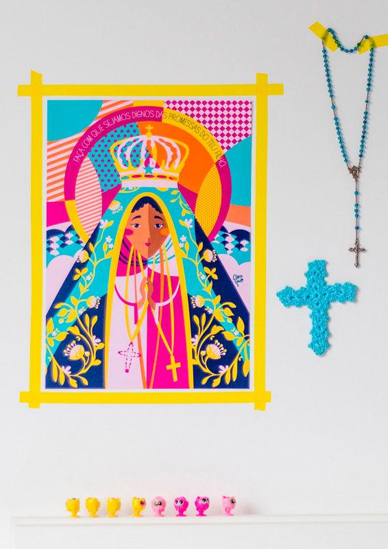 Quadro Nossa Senhora Aparecida Ambientado | Wall Done