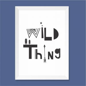 Quadro Wild Thing Moldura Branca | Wall Done