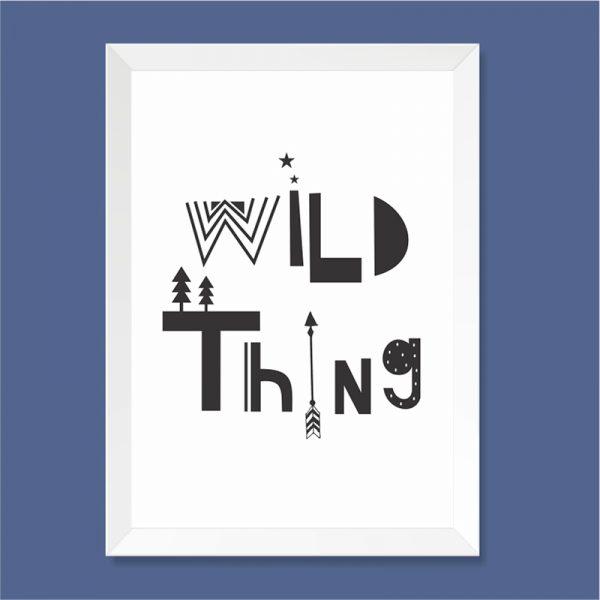 Quadro Wild Thing Moldura Branca | Wall Done