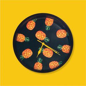 Relógio de Parede Abacaxi Preto | Wall Done