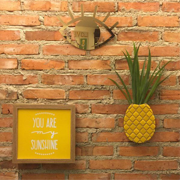 Vaso de Parede Abacaxi Ambientado 2 | Wall Done