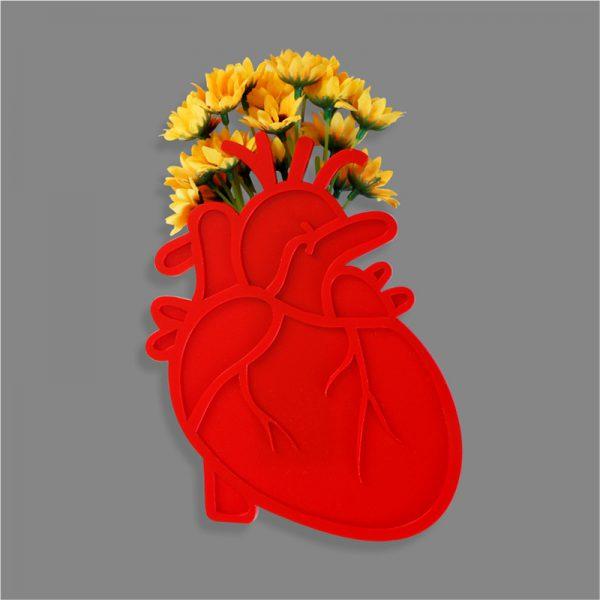 Vaso de Parede Coração Anatômico | Wall Done