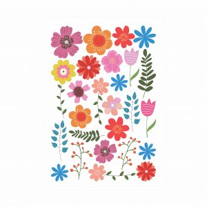 adesivo-de-parede-flores | Wall Done