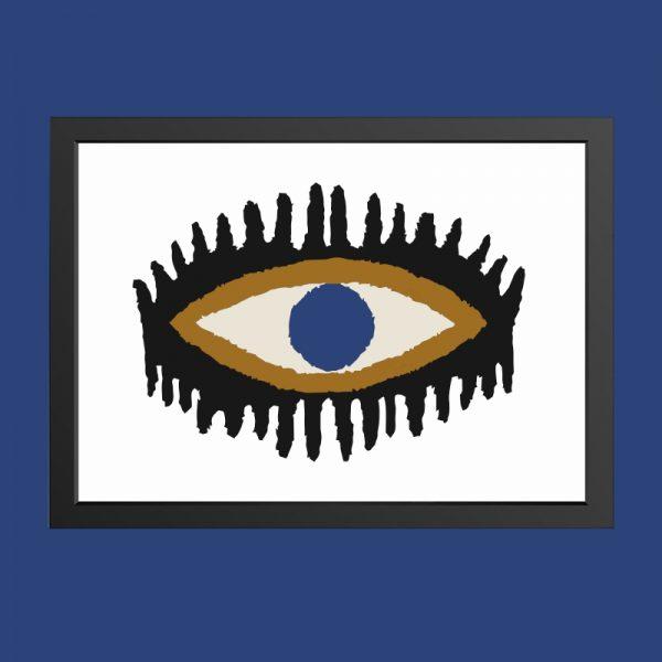 quadro-olho-chic-moldura-preta | Wall Done